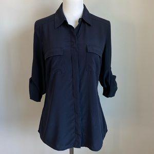 Ann Taylor Long Sleeve Silk Top